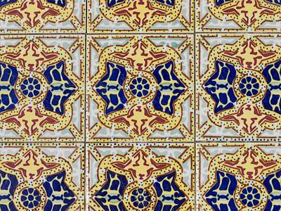 Mission Tiles Garden (Olympus 4/3 50mm Macro)