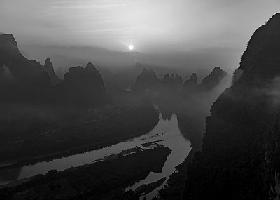 Misty Morning Li River - Susan Moss