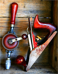 Old Handtools - Richard Goodwin Second place members' choice Open