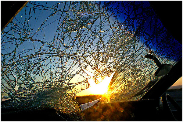 Shattered Screen - Phil Burrows<br /> Third place members' choice Open