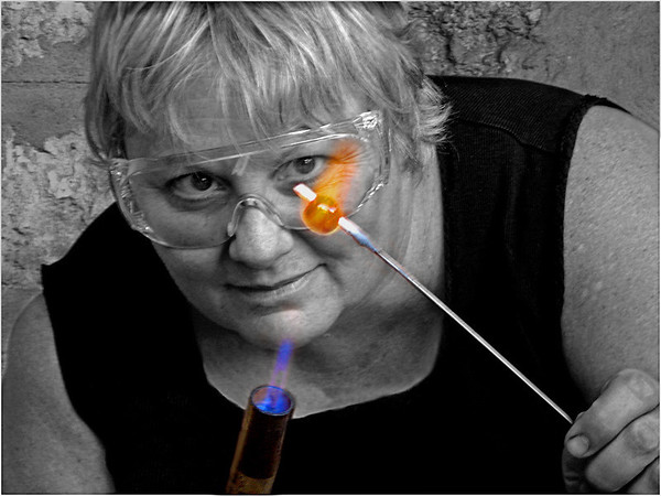 Glass Blower - Phil Burrows<br /> Second place Judge's choice
