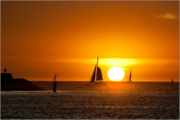 Sunset Sail - Ray Ross<br /> Second place judge's choice and 4th place members' choice.