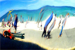 Curvy Beach Scene - Phil Burrows<br /> Second place members' choice - Set.