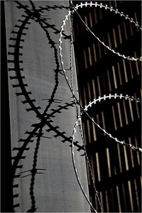Shadowed by Razor Wire - Richard Goodwin Third place members' choice - Set.