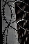 Shadowed by Razor Wire - Richard Goodwin<br /> Third place members' choice - Set.