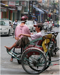 Street Scene in Saigon - Ann Jones Sixth place members' choice - Set.