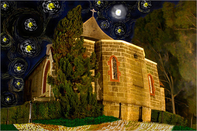 Starry Night, St Luke's - Phil Burrows Fourth place members' choice.