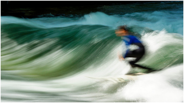 Surfing in the Isar - Dean Craig<br /> Equal third place judge's choice and fourth place members' choice - Set.