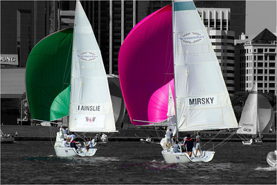 Coloured Sails - Phil Burrows Equal fourth place members' choice - Set.