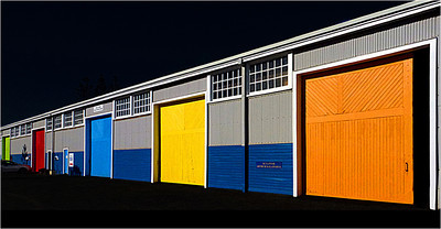 Coloured Sheds - Phil Burrows Fourth place members' choice