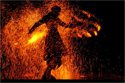 Man on Fire - Phil Burrows Equal first place judge's choice and fifth place members' choice.