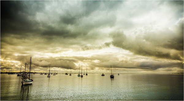Storm Across Corio Bay - Richard Goodwin Third place judge's choice and second place members' choice.