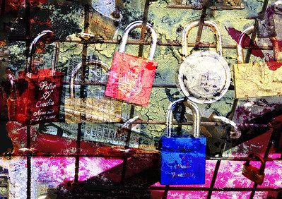 Padlocked in Paris - Susan Moss Altered Reality - Third place judge's choice