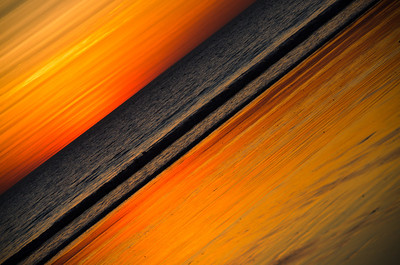 Sunset Abstraction - Kim McAvoy Set Projections - Second place judge's choice and fourth place members' choice