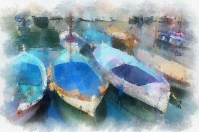Blue Boats, Nice - Susan Moss
