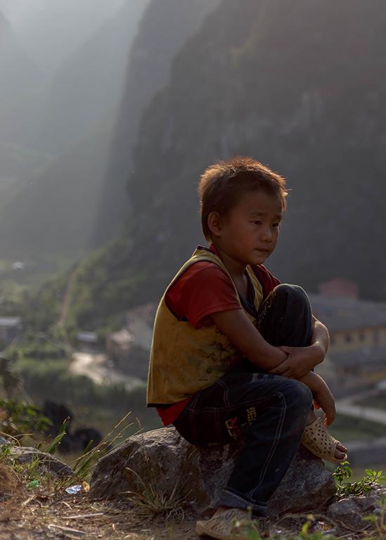 Boy on Mountain - Susan Moss