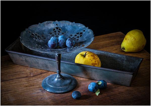 Still Life with Plums - Richard Kujda