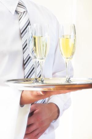Serving Celebration Drinks - Kim McAvoy