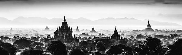 Bagan in Black n White - Ann Jones