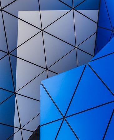 Blue Triangles - Ann Jones