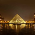 One, Wet, Late Night at the Louvre - Susan Moss