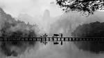 Misty Morn on the Bridge - Susan Moss