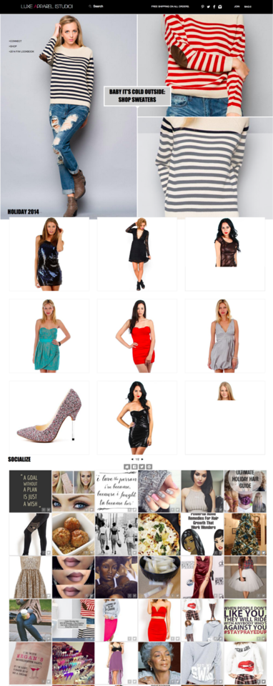 Luxe Apparel Studio Home Page