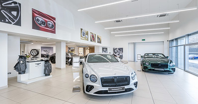 Bentley Edinburgh showroom photography