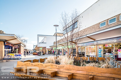 Interior and exterior architectural photography of Blaydon Shopping Centre, Doctors Surgery and Youth Centre