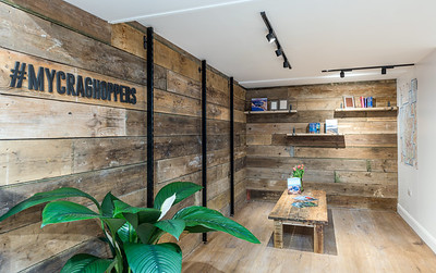 Interior and exterior architectural photography of Craghoppers in Edinburgh