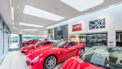 Ferrari Edinburgh showroom photography