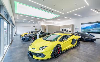 Lamborghini Edinburgh showroom photography