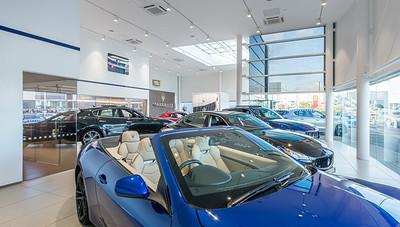 Maserati Edinburgh showroom photography