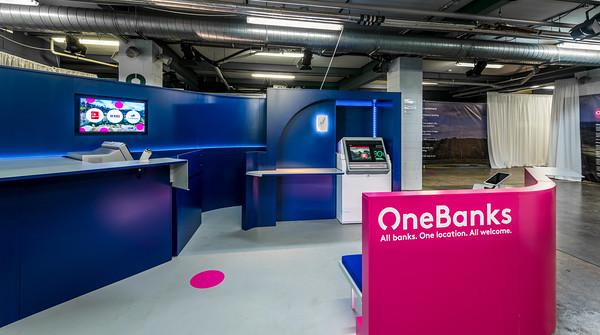 OneBanks kiosk architectural photography