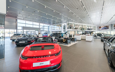 Porsche Edinburgh showroom photography