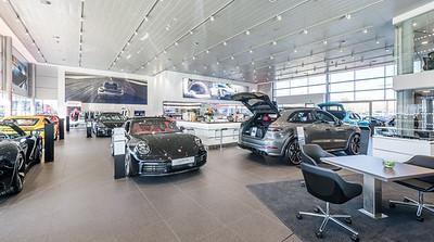 Porsche Edinburgh showroom photography