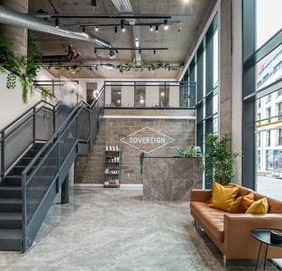 Interior architectural photography of Sovereign Grooming in Edinburgh