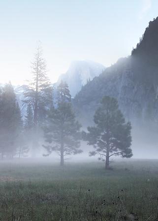 Half Dome in Fog