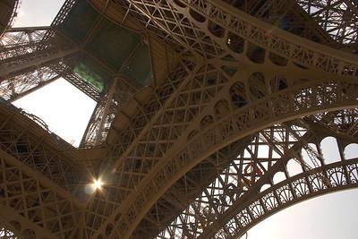 Eiffel Tower Detail, Paris France.
