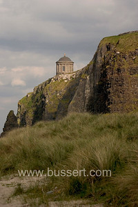 Mussenden Temple, Northern Ireland. The structure was built in 1785 to serve as a library for the estate.