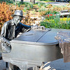 Statue of Hoagy Carmichael on IU Campus.