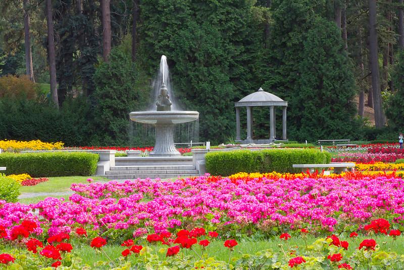 Flower Garden with Fountain