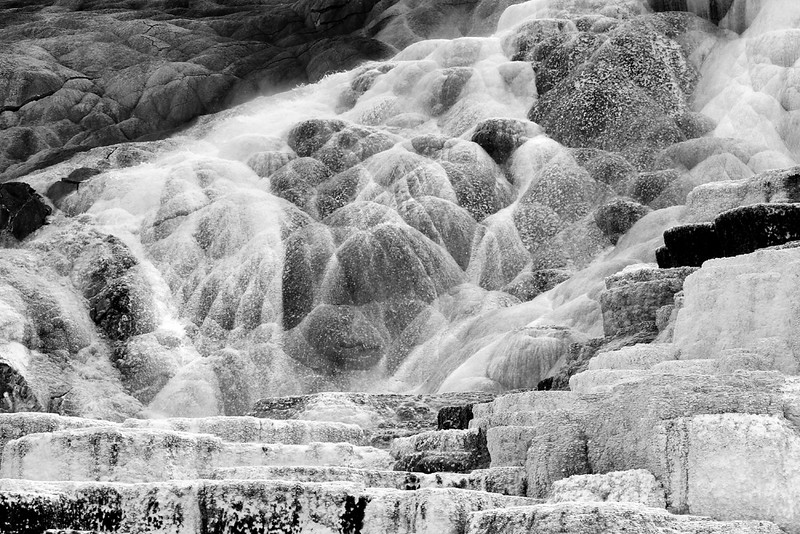 Mineral Deposits at Mammoth Hot Springs
