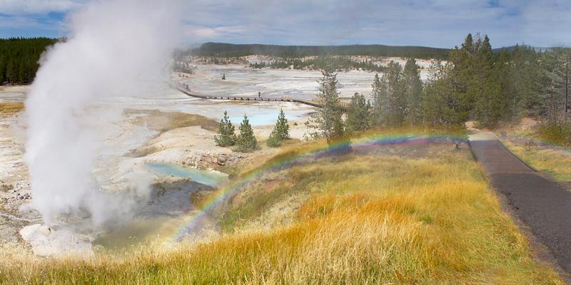 Rainbow at Geyser
