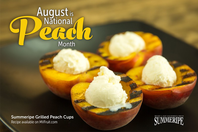 Celebrate National Peach Month with Summeripe Grilled Peaches