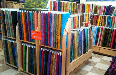 New batiks!! More than 700 bolts of batiks are here!!!