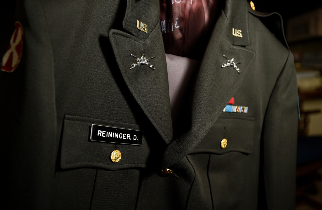 . The uniform of retired U.S. Army Major Donald Reininger at his home in Louisville on Wednesday. For more photos of Reininger go to dailycamera.com Jeremy Papasso/ Staff Photographer 11/01/2017