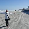 Marilyn on Daytona Beach...obviously on a windy but sunny day