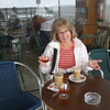 Our walk along the boardwalk in Cabanas was interrupted by a shower so we had to have a coffee and brandy to warm up.....met a very nice couple from Denmark at one table (the husband thought all Canadians were rich!!) and a young British woman who worked in radiology at Richmond General Hospital for 6 months in 2008 at another table......