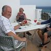 Wayne, Bev & Larry enjoying a pleasant & sunny afternoon.